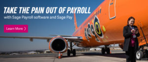 Mango Airlines using SagePay with photo of airoplane