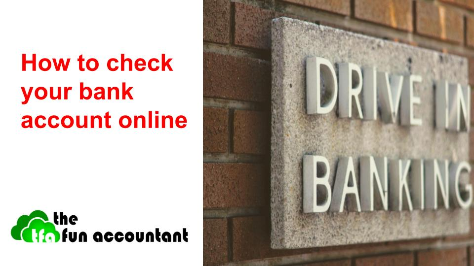 How to check your bank account online with sing against wall
