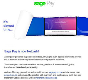 Sage Pay is now Netcash