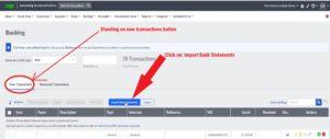 sage cloud accounting select import bank