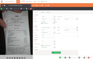 receipt bank invoice in inbox