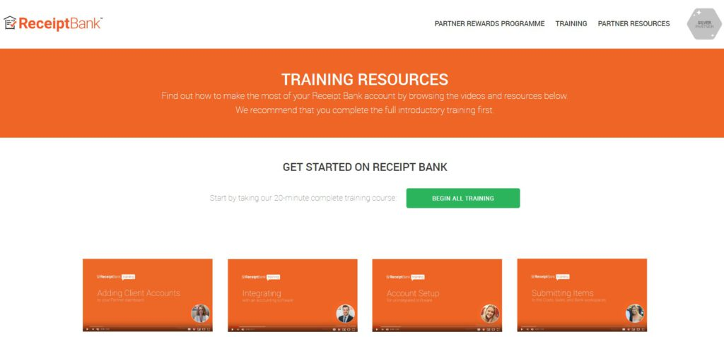 receipt bank training
