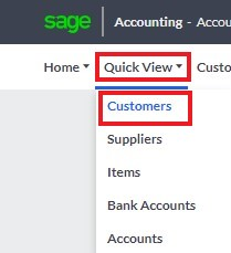 sage quickview customers