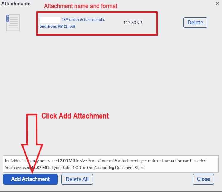 sage add attachment