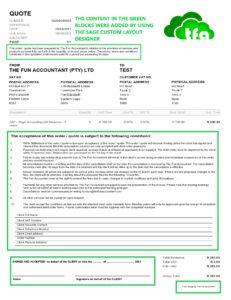 Sage company settings layout designer