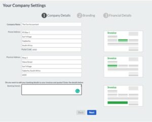 sage accounting tutorial add company details