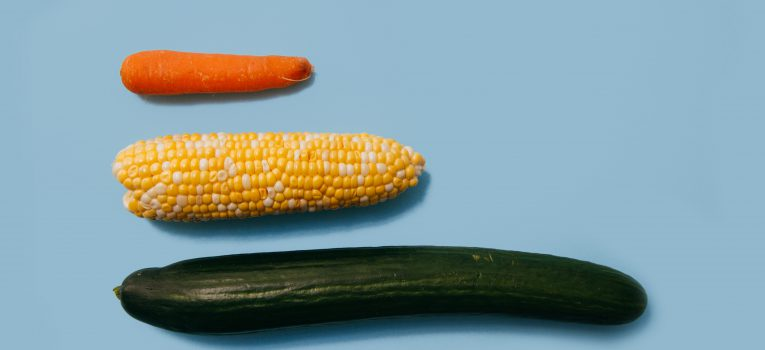 Different vegetables depict size of business